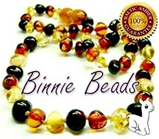 Binnie Beads Amber Baby Necklace - Mix