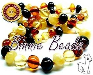 Binnie Beads Amber Baby Necklace - Multimix