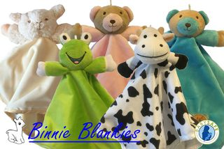 Binnie Blankies / Baby Comforters / Toddler Security Blanket