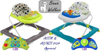Binnie Baby Walkers - 2 Colours
