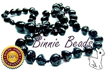 Binnie Beads Amber Baby Necklace - Cherry