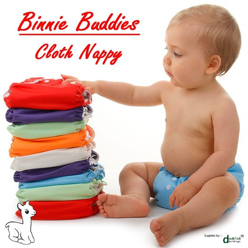 Binnie Re-Usable Cloth Nappy - One Size