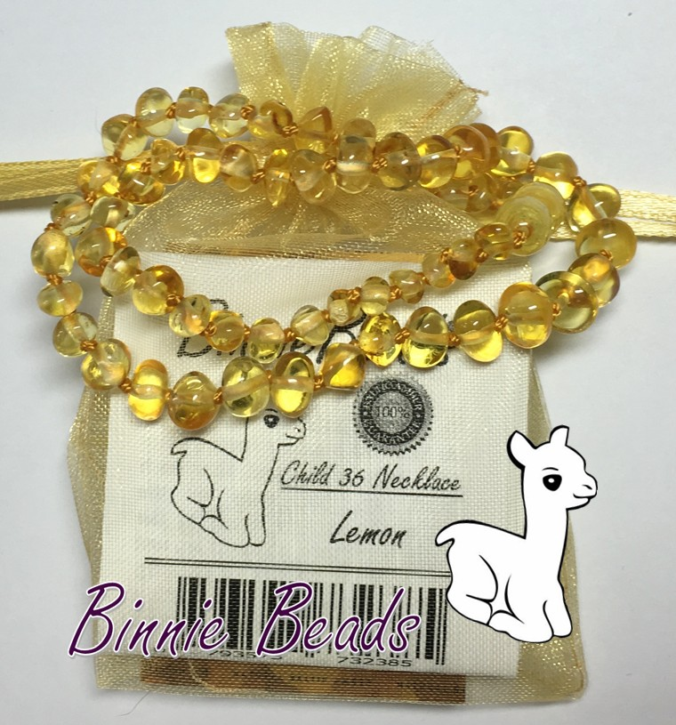 Binnie Beads CHILD Amber NECKLACES 36cm