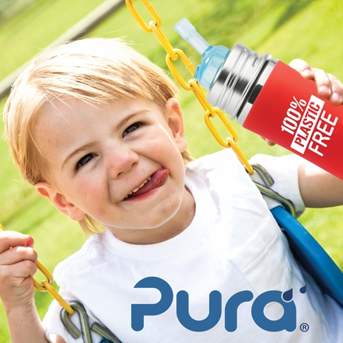 Pura Kiki 325ml TODDLER Straw ECO Stainless Bottle